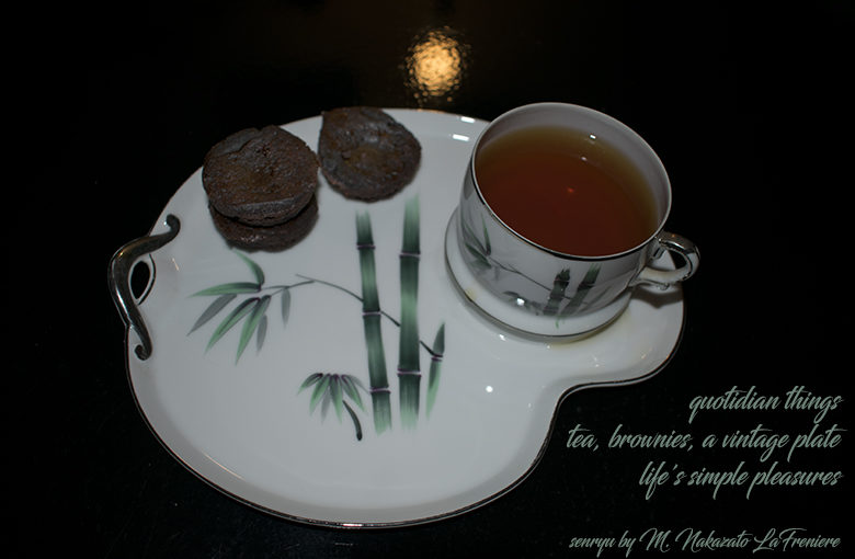 quotidian tea : vintage plates reflect history