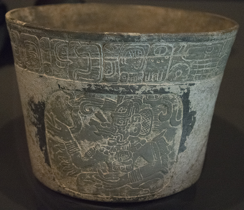 Mayan Carved Vessel