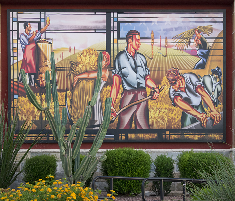 Brewhouse mural, photo by M. LaFreniere, all rights reserved