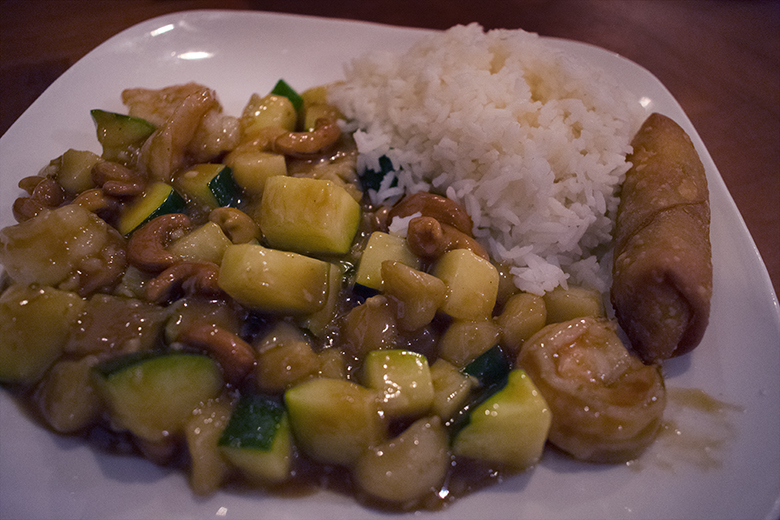 Peking Palace Cashew Shrimp, photo by M. LaFreniere, all rights reserved