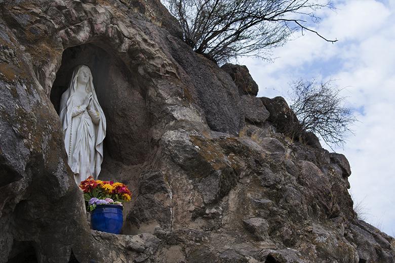 ,Grotto at San Xavier Mission del Bac, photo by M. LaFreniere