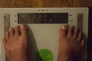 233.5 pounds for weigh out for 6% weight loss challenge
