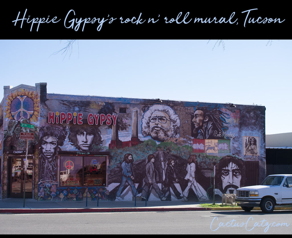 Hippie Gypsy rock n' roll mural, Tucson, photo by M. LaFreniere, all rights reserved
