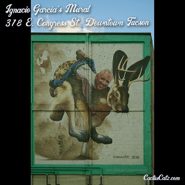 Ignacio Garcia's Downtown Tucson Mural, photograph by M. LaFreniere, all rights reserved, CactusCatz.com