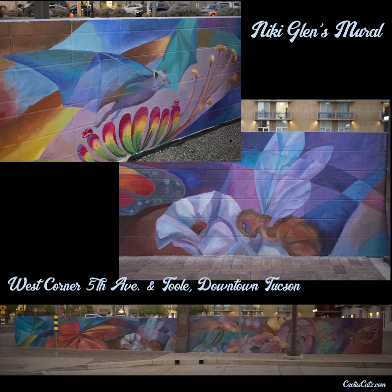 Niki Glen's Downtown Tucson Mural, photograph by M. LaFreniere, all rights reserved, CactusCatz.com