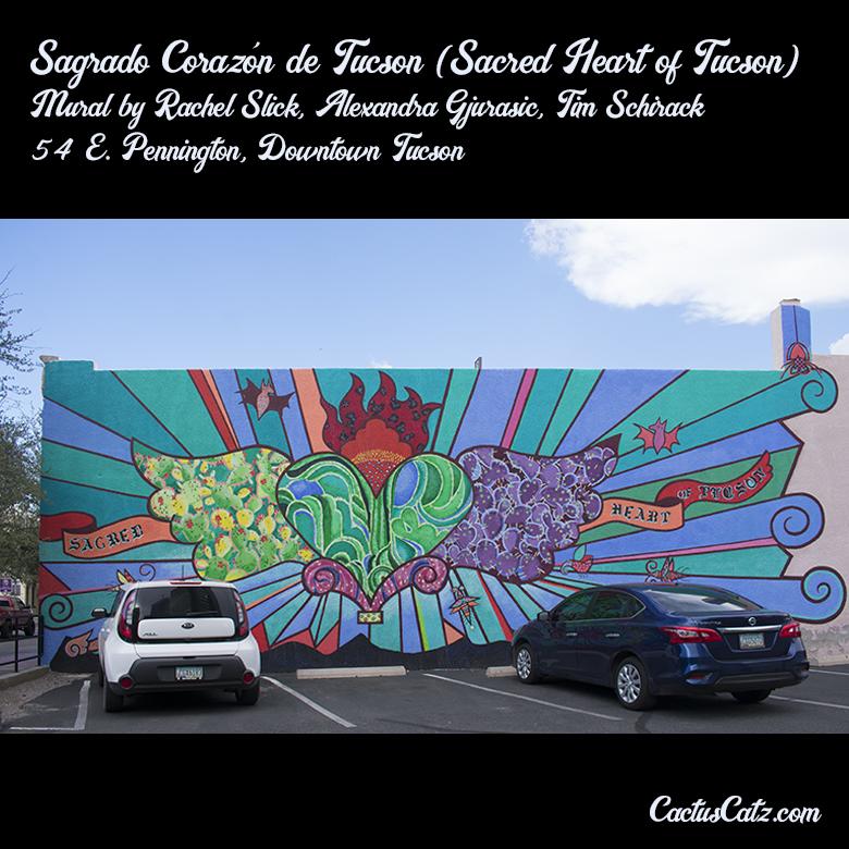 Sagrado Corazón de Tucson Mural, photograph by M. LaFreniere, all rights reserved, CactusCatz.com
