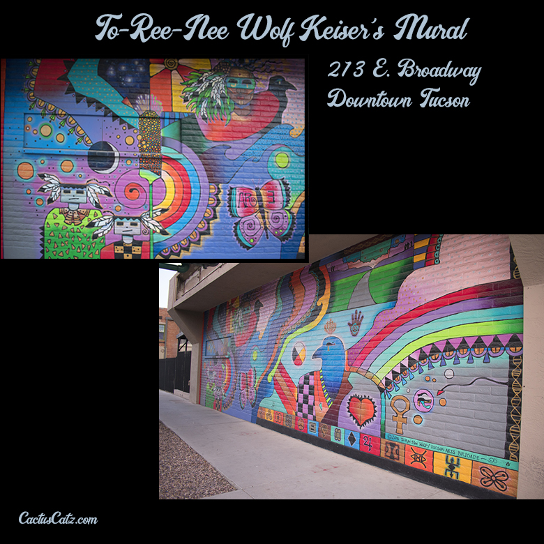 To-Ree-Nee Wolf Keiser's Downtown Tucson Mural, photograph by M. LaFreniere, all rights reserved, CactusCatz.com