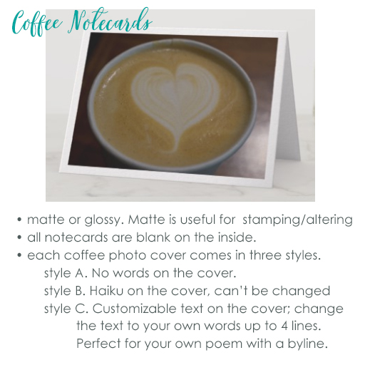 Coffee notecards