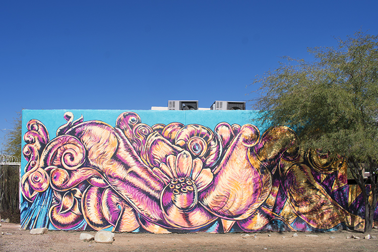 Winterhaven Health Center mural, photo by M. LaFreniere