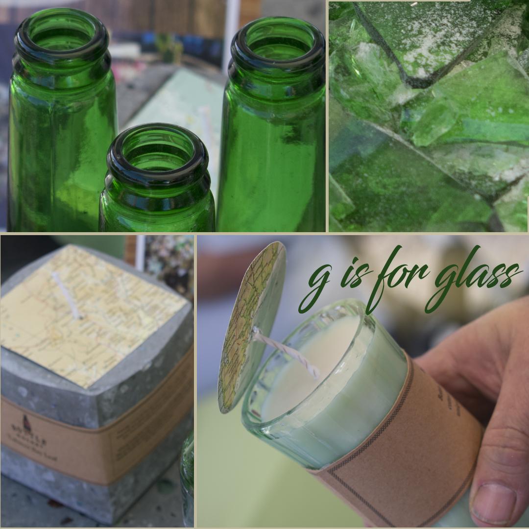 repurposed glass from Bottle Rocket Design